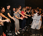 Joseph Medeiros and cast during the Actors' Equity Opening Night Gypsy Robe Ceremony honoring Joseph Medeiros for 'Groundhog Day' at the August Wilson Theatre on April 17, 2017 in New York City
