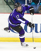 Evan Mosey (Mankato - 17) - The visiting Minnesota State University-Mankato Mavericks defeated the University of Massachusetts-Lowell River Hawks 3-2 on Saturday, November 27, 2010, at Tsongas Arena in Lowell, Massachusetts.
