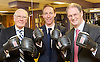 Fighting Fitter Campaign photocall with <br /> Jim Murphy MP<br /> Labour's Shadow Defence Secretary<br /> at The House of Commons' Gym, London, Great Britain, 25th June 2013.<br /> Jim Murphy MP, Labour's Shadow Defence Secretary, James Arbuthnot, Chair of the Defence Select Committee, and former Olympian Sir Menzies Campbell, during a photo-call to promote the Fighting Fitter campaign, which provides members of the Armed Forces and their families with discounts to health and leisure facilities.<br /> <br /> Photograph by Elliott Franks