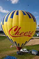 """Cheers Hot Air Balloon"" - This photograph of the Cheers hot air balloon was taken during the 2011 Great Reno Balloon Race. Photographed from a hot air balloon."