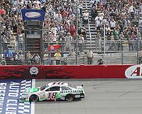 03/23/14 Fontana, CA: Kyle Busch wins the 2014 Auto Club Speedway 400