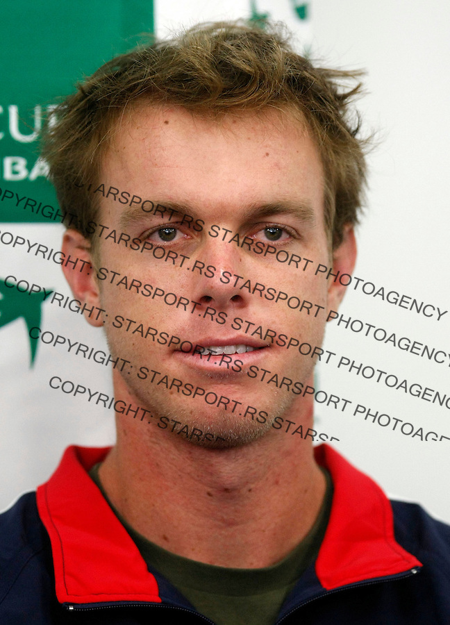 Tennis, Davis Cup.Serbia Vs. USA.USA press conference, Sa, Querrey.Belgrade, 02.03.2010..foto: Srdjan Stevanovic