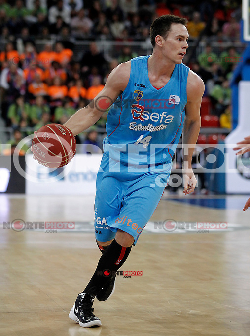 Asefa Estudiantes' Kyle Kuric during Spanish Basketball King's Cup match.February 07,2013. (ALTERPHOTOS/Acero) /NortePhoto