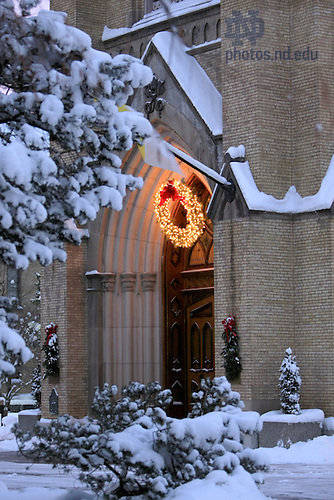 Basilica main door at Christmas