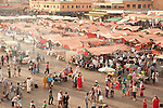 Djemaa el-Fna, main square, Marrakesh, Morocco, market, sunset,