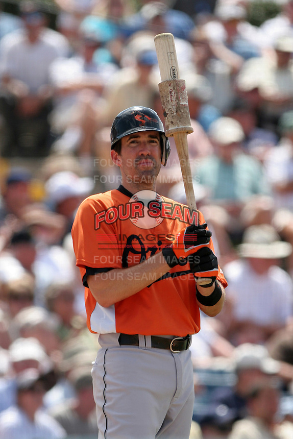 Baltimore Orioles Carlos Gomez during a Grapefruit League Spring Training game at Holman Stadium on March 22, 2007 in Vero Beach, Florida.  (Mike Janes/Four Seam Images)