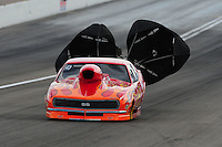 Apr. 2, 2011; Las Vegas, NV, USA: NHRA pro mod driver Rickie Smith during qualifying for the Summitracing.com Nationals at The Strip in Las Vegas. Mandatory Credit: Mark J. Rebilas-