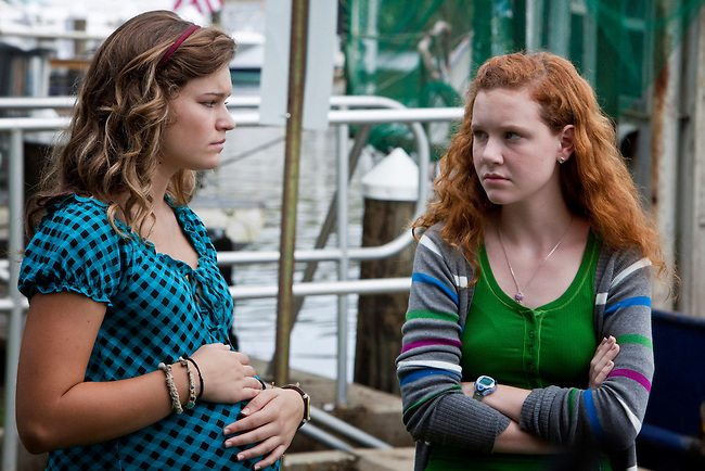 Kelly Heyer and Madisen Beaty in the Lifetime Television Original Movie 'The Pregnancy Pact,' loosely based on the 2008 Gloucester High School case.