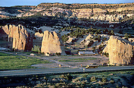 May 6th to 13th, 1985 in Navajo Reserve, AZ. Beautiful landscape next to the Navajo capital Window Rock, AZ. The Navajo Reserve is 25000 sq miles with the population of 165 thousand.