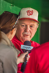26 May 2013: Washington Nationals pitching coach Steve McCatty is interviewed prior to a game against the Philadelphia Phillies at Nationals Park in Washington, DC. The Nationals defeated the Phillies 6-1 to take the rubber game of their 3-game weekend series. Mandatory Credit: Ed Wolfstein Photo *** RAW (NEF) Image File Available ***