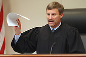 Prince William County (Virginia) Circuit Court Judge LeRoy F. Millette, Jr., tells the jury that the case is in their hands as the jury begins deliberations in the trial of sniper suspect John Allen Muhammad in courtroom 10 at the Virginia Beach Circuit Court in Virginia Beach, Virginia on November 14, 2003. <br /> Credit: Davis Turner - Pool via CNP