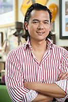 Arnold Wu, presidente de Grupo Wu Restaurantes, fotografiado en el restaurante Planet Chicken del Mega Plaza en Independencia.