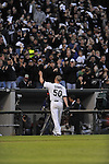 CHICAGO - October 5:  John Danks #50 of the Chicago White Sox waves to the fans during the game against the Tampa Bay Rays at U.S. Cellular Field in Chicago, Illinois on October 5, 2008.  The White Sox defeated the Rays 5-3.  (Photo by Ron Vesely)