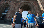 St Johnstone UEFA Cup Qualifyer, Armenia...01.07.15<br /> Simon Lappin pictured in the Armenian capital Yerevan ahead of tomorrow nights game against Alashkert FC. He is pictured with John Sutton and Liam Caddis<br /> Picture by Graeme Hart.<br /> Copyright Perthshire Picture Agency<br /> Tel: 01738 623350  Mobile: 07990 594431