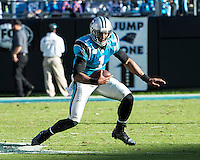 The Carolina Panthers defeated the Atlanta Falcons 34-10 in an inter-division rivalry played in Charlotte, NC at Bank of America Stadium.  Carolina Panthers quarterback Cam Newton (1)