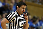 18 January 2015: Referee Roy Gulbeyan. The Duke University Blue Devils hosted the University of Miami Hurricanes at Cameron Indoor Stadium in Durham, North Carolina in a 2014-15 NCAA Division I Women's Basketball game. Duke won the game 68-53.