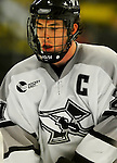 1 December 2007: Providence College Friars' forward and Team Captain Jon Rheault, a Senior from Deering, NH, in action against the University of Vermont Catamounts at Gutterson Fieldhouse in Burlington, Vermont. The Friars defeated the Catamounts 4-0 in front of a capacity crowd of 4003, for the 64th consecutive sell-out at Gutterson...Mandatory Photo Credit: Ed Wolfstein Photo