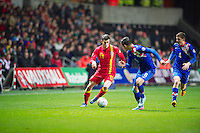 Swansea, Wales. Tuesday 26th March 2013. action during the Wales v Croatia 2014 World Cup Brasil Group A qualfying match. Mandatory credit for pictures used to-Jeff Thomas Photography-www.jaypics.photoshelter.com-07837 386244