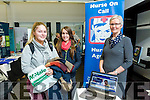 At the ITT  Careers Fair on Tuesday were Orla O Shea, Colleen Kennelly with Lucy Mc Crann from Nurse on Call