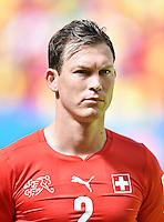 FUSSBALL WM 2014  VORRUNDE    Gruppe D     Schweiz - Ecuador                      15.06.2014 Stephan Lichtsteiner (Schweiz)