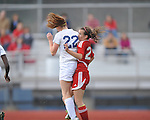 Oxford High vs. Lafayette High's Rachel Watkins (27) in girls high school soccer in Oxford, Miss. on Saturday, December 8, 2012. Oxford won 1-0.