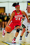 26 January 2010: University of Hartford Hawks' forward Ruthanne Doherty, a Freshman from Richmond, VA, in action against the University of Vermont Catamounts at Patrick Gymnasium in Burlington, Vermont. The Hawks defeated the Lady Cats 38-36 in a closely matched America East contest. Mandatory Credit: Ed Wolfstein Photo