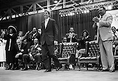 New Orleans, Louisianna.USA.September 9, 2004..Democratic Presidential hopeful Senator John Kerry addresses the 124th Annual Session of the National Baptist Convention at the Ernest Morial Convention Center.....