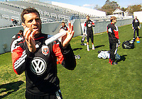Ben Olsen of D.C. United during a training session in Hapgood Stadium on the campus of the Citadel,on March 11 2011, in Charleston, South Carolina