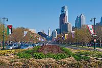 Ben Franklin Parkway, Buildings, Skyscrapers, Downtown, Phila. PA, Philadelphia, Pennsylvania, Skyline Phila, Philly, PA