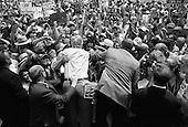 La Junta, Colorado.USA.August 7, 2004..Democratic Presidentual nominee Sen. John Kerry and VP nominee Sen. John Edwards at a rally....