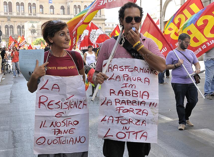 Palermo: general strike by trade unionist CGIL.<br /> Palermo: sciopero generale indetto dalla CGIL