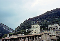 Italy: Gubbio--seen from below town. Photo '83.