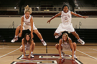 STANFORD, CA - OCTOBER 9:  Michelle Harrison, Jayne Appel, Melanie Murphy and JJ Hones of the Stanford Cardinal during picture day on October 9, 2008 at Maples Pavilion in Stanford, California.