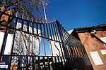 Notts County 0 Mansfield Town 0, 14/01/2017. Meadow Lane, League Two. The wrought iron gates outside Meadow lane. Photo by Paul Thompson.
