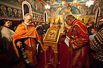 Christmas Eve Vigil Service at St. Sava Serbian Orthodox Church, Jackson, Calif.--Fr. Steve and Deacon Triva.