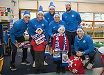 St Johnstone players took some festive cheer to Fairview School in Perth gving out selection boxes and gifts to the pupils&hellip;Pictured from left, Keith Watson, Joe Shaughnessy, Zander Clark, Paul Paton, Alan Mannus and David Wotherspoon with primary pupils Jack (left) and Logan<br />Picture by Graeme Hart.<br />Copyright Perthshire Picture Agency<br />Tel: 01738 623350  Mobile: 07990 594431