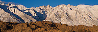 Mount Whitney and Alabama hills, Sierra Nevada mountains, California
