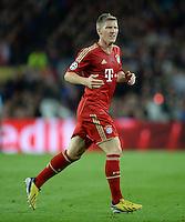 FUSSBALL  CHAMPIONS LEAGUE  HALBFINALE  RUECKSPIEL  2012/2013      FC Barcelona - FC Bayern Muenchen              01.05.2013 Bastian Schweinsteiger (FC Bayern Muenchen)
