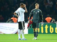 Fussball International  WM Qualifikation 2014   16.10.2012 Deutschland - Schweden Enttaeuschung Jerome Boateng und Torwart Manuel Neuer (v. li., Deutschland)