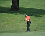 Golfer Kevin Kisner chips on the 7th hole at the PGA FedEx St. Jude Classic at TPC Southwind in Memphis, Tenn. on Thursday, June 9, 2011.