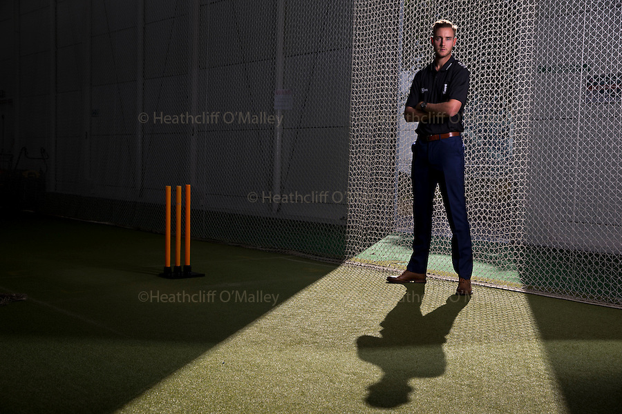 Mcc0072903 . Daily Telegraph<br /> <br /> DT Sport<br /> <br /> England Cricketer Stuart Broad photographed at Lords Cricket Ground.<br /> <br /> London 4 October 2016