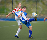 St Johnstone U16's.Matthew McArthur in a game against Hamilton Accies U16.Picture by Graeme Hart..Copyright Perthshire Picture Agency.Tel: 01738 623350  Mobile: 07990 594431