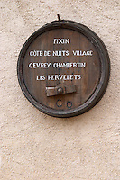 sign post with appellations produced clos st louis fixin cote de nuits burgundy france