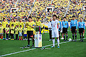Hidekazu Otani (Reysol), Yohei Kajiyama (FC Tokyo),.MARCH 3, 2012 - Football / Soccer :.The FUJI XEROX Super Cup trophy is seen between Hidekazu Otani of Kashiwa Reysol and Yohei Kajiyama of F.C.Tokyo before the FUJI XEROX Super Cup 2012 match between Kashiwa Reysol 2-1 F.C.Tokyo at National Stadium in Tokyo, Japan. (Photo by AFLO)