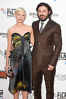 LONDON, UK. October 8, 2016: Michelle Williams &amp; Casey Affleck at the London Film Festival premiere for &quot;Manchester by the Sea&quot; at the Odeon Leicester Square, London.<br /> Picture: Steve Vas/Featureflash/SilverHub 0208 004 5359/ 07711 972644 Editors@silverhubmedia.com