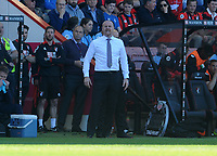 Burnley manager Sean Dyche shouts instructions from the technical area <br /> <br /> Photographer Ian Cook/CameraSport<br /> <br /> The Premier League - Bournemouth v Burnley - Saturday 13th May 2017 - Vitality Stadium - Bournemouth<br /> <br /> World Copyright &copy; 2017 CameraSport. All rights reserved. 43 Linden Ave. Countesthorpe. Leicester. England. LE8 5PG - Tel: +44 (0) 116 277 4147 - admin@camerasport.com - www.camerasport.com