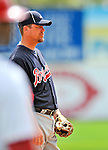 6 March 2011: Atlanta Braves' third baseman Chipper Jones in action during a Spring Training game against the Washington Nationals at Space Coast Stadium in Viera, Florida. The Braves shut out the Nationals 5-0 in Grapefruit League action. Mandatory Credit: Ed Wolfstein Photo