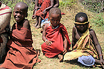 Africa, Kenya, Maasai Mara. Children of the Mara.