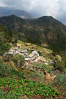 The middle village of Ghandruk. Nearly 80 percent of Nepal's people live in rural areas, where the economy is dominated by subsistence agriculture.