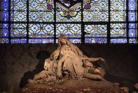 Pieta, Jean-Baptiste Auguste Clesinger, c. 1850, Eglise Saint-Sulpice (St Sulpitius' Church), c.1646-1745, late Baroque church on the Left Bank, Paris, France. Picture by Manuel Cohen
